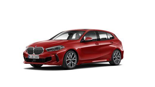 BMW---128ti---Premium---2022---Rojo-MelbourneTela-Trigon---Cuero-Alcantara-Negro
